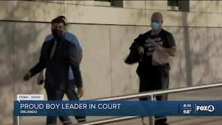 Proud Boys leader in court