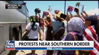 Unhinged Protester Attacking Bus So Enraged He Appears Close to Aneurysm - Video
