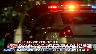 Tulsa Police search for home invasion suspects - Video