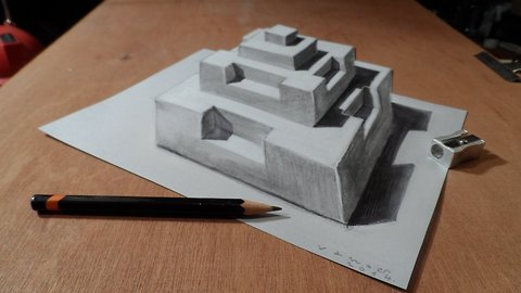 Drawing a 3D pyramid