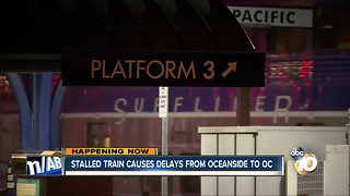 Disabled train in OC causes delays, cancellations - Video