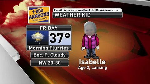 Weather Kid - Isabelle - 3/22/19