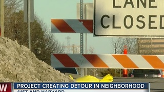 Road Project Creating Neighborhood Detour - Video