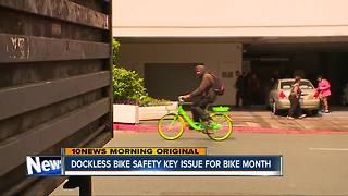 Dockless bike safety key issue for Bike Month in San Diego - Video