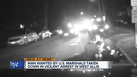 Wanted man caught during violent traffic stop in West Allis