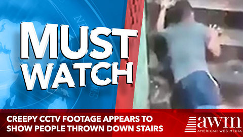 Creepy CCTV footage appears to show people thrown down