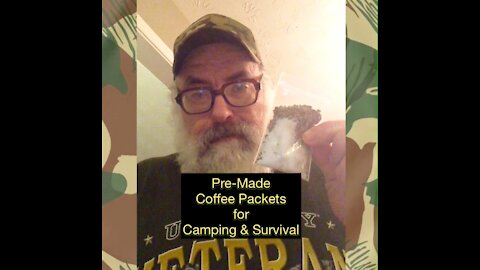 Pre-Made Coffee Packets for Camping and Survival