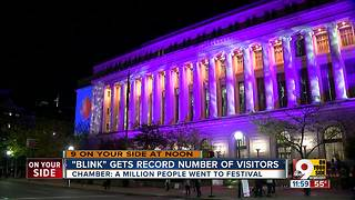 Cincinnati Chamber says 1 million people went to first ever BLINK Cincinnati - Video