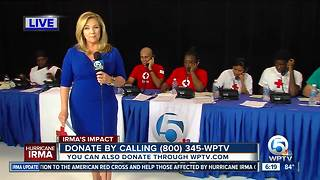 Donations taken in to benefit victims of Hurricane Irma - Video