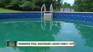 Swimming pool nightmare leaves family hot - Video