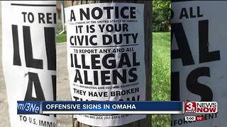 Offensive signs posted around Omaha