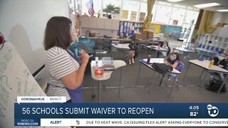 56 Schools Submit Wavier to Reopen