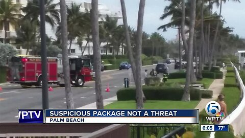 Suspicious package deemed not a threat in Palm Beach