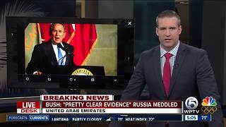 George W. Bush says Russia meddled in 2016 US election - Video