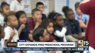 Tempe expanding free preschool program - Video