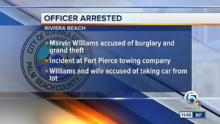 Riviera Beach police officer arrested in Fort Pierce