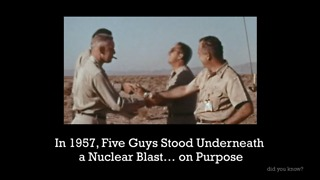 in 1957, 5 Guys Stood Under A Nuclear Blast... On Purpose - Video