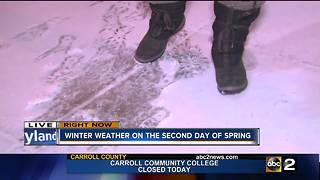 Winter weather on the second day of Spring - Video