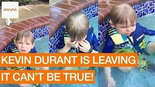 Kid Gets Emotional About Kevin Durant Leaving Oklahoma City Thunder - Video