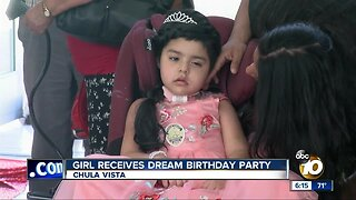 South Bay girl battling rare cancer receives dream birthday party