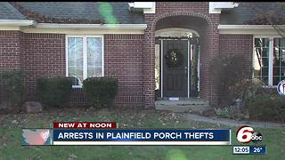 Plainfield package theft suspects arrested in Johnson County - Video