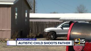 Child safety officials investigating after child with autism shoots father - Video