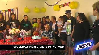 THE TREND: Stockdale high school students grant man's dying wish - Video