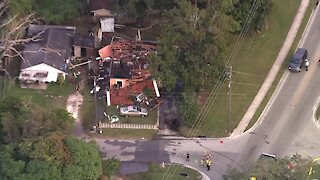 House explosion in Manatee County - chopper video