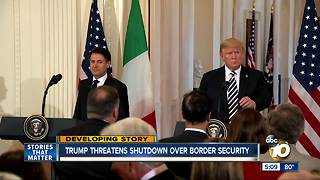 Trump threatens shutdown over border security