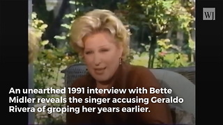 Video Surfaces of Bette Midler Accusing Geraldo Rivera of Groping - Video