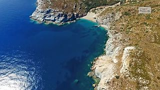 Remote Greek village captured by drone