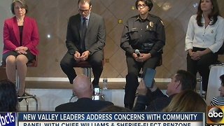 Community leaders meet with the public to build 'trust' - Video