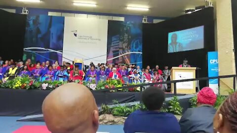SOUTH AFRICA - Cape Town - CPUT Instalation of Vice Chancellor(Video) (8yY)
