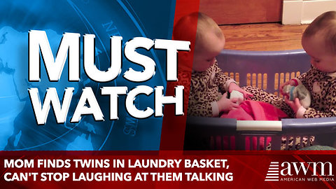 Mom Finds Twins In Laundry Basket, Can't Stop Laughing at them talking