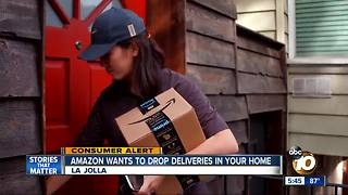 Amazon wants to drop deliveries directly into homes - Video