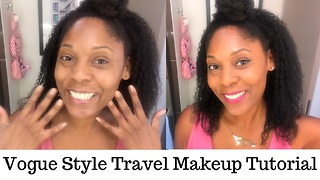 Vogue style travel makeup tutorial