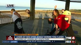 Lovers Key now offers Monday morning yoga classes - 7:30am live report - Video