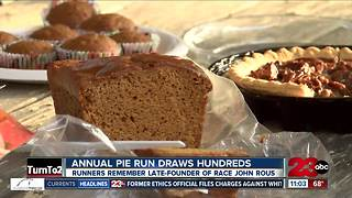 Annual pie run continues after death of founder - Video