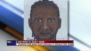 Sketch of suspect released in sexual assault of 14-year-old Detroit girl
