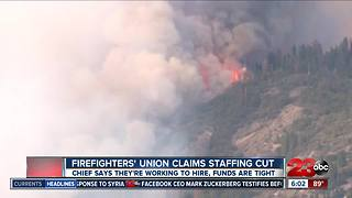 Firefighters' union claims staffing cut, Chief says they're working to fix - Video