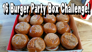 Undefeated 16 Burger Party Box Challenge VS FreakEating - Video