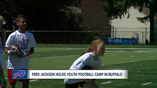 Fred Jackson holds youth football camp - Video