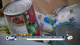 Escondido woman starts collecting food for government employees