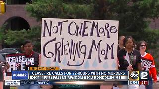 Second Baltimore 72-hour ceasefire starts after city hits 300+ murders - Video