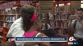 Hogsett, IMPD walk Indy streets - Video