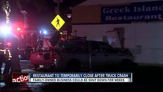 Truck crashes into family-owned restaurant in Largo