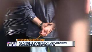 ICE detains dozens during immigration sweeps in metro Detroit - Video