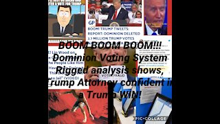 BOOM!!!!! Dominion Voting System Rigged! Trump attorney confident of a Trump WIN!!!