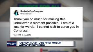 Rashida Tlaib to be first Muslim woman in Congress