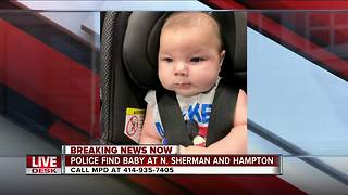 Milwaukee Police searching for family of lost infant - Video